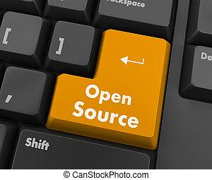 open source keyboard button