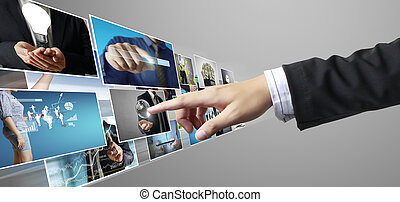 hand reaching images streaming from the deep - businessmen ...
