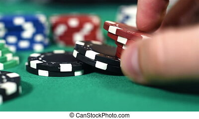 Hand Recounts Poker Chips - Hand Recounts Color Poker Chips,...