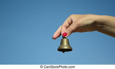 hand red nail bell jingle