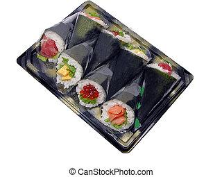 Hand-roll sushi box