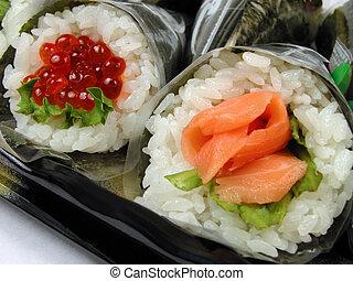 Hand-roll sushi