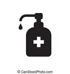 Hand sanitizer icon vector for graphic design, logo, web site, social media, mobile app, ui illustration