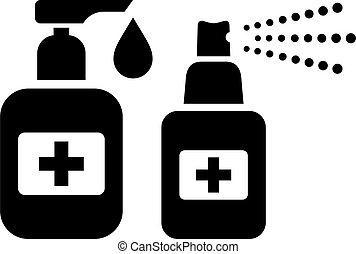Hand sanitizer vector icon