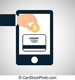 hand save money credit card icon