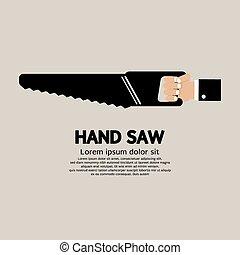 hand, saw.
