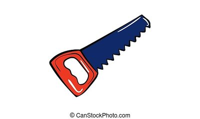 Hand saw icon animation best on white background for any design