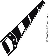 Hand saw icon, simple style