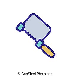 hand saw icon vector outline illustration