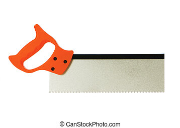 Hand saw isolated on the white background
