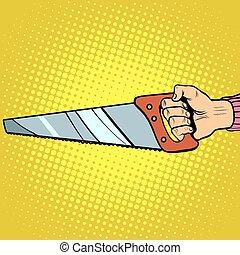 Hand saw vector tool