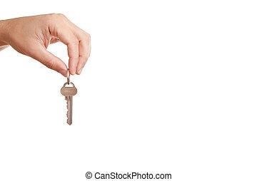 hand, schlüssel, modern, hintergrund, besitz