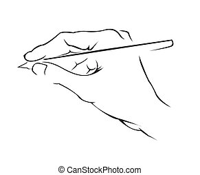 hand schreiben, einfache , symbol