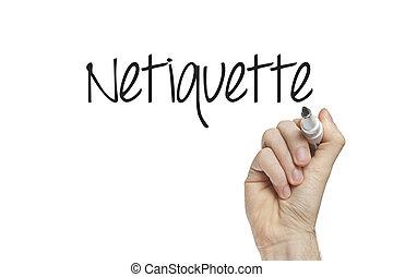 hand schreiben, netiquette