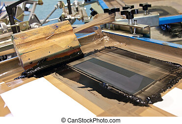 hand screen printing