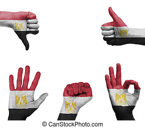 Hand set with the flag of Egypt