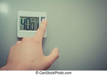 Hand setting timer