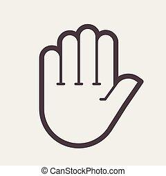 Hand shake gesture.