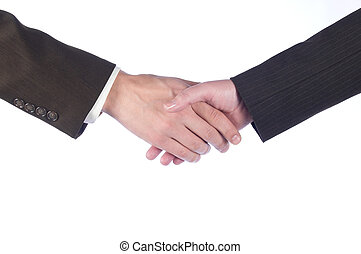 hand shake - Hand shake of the business man and the woman