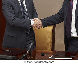 hand shake office business agreement