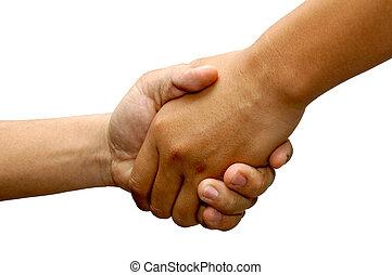 Hand Shake - hand shake tight