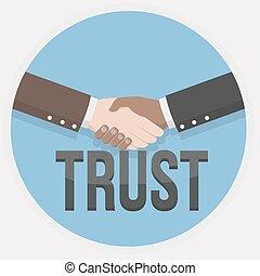 hand shake trust illustration