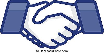 Hand shake, vector Eps10 illustration.