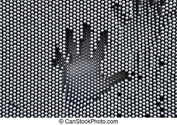 Hand shape in a board