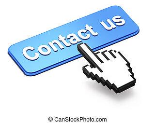 hand-shaped, bottone, ci, cursore, contatto, premere, topo