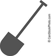 Hand Shovel - Shovel, tool, hand icon vector image.Can also...
