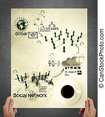 hand show social network structure poster