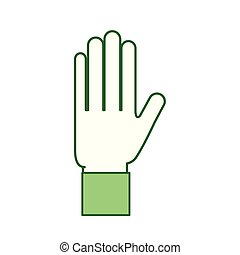 hand showing five finger gesture icon vector illustration