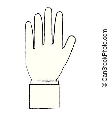hand showing five fingers image