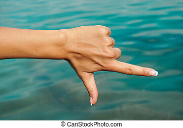 Hand showing number with fingers