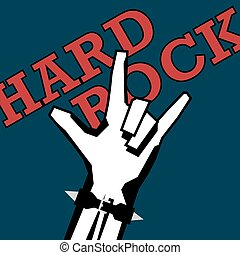 Hand showing the Rock and Roll sign