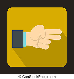 Hand showing two fingers icon