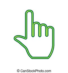 Hand sign illustration. Vector. Lemon scribble icon on white background. Isolated