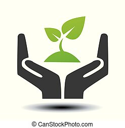 hand sign of environmental protection