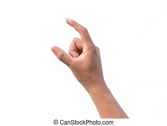 Hand sign on white background