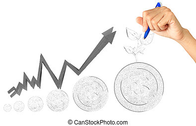hand sketch Increase your savings - hand sketch Increase...