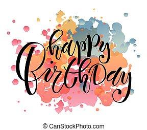 Happy Birthday Lettering Typography