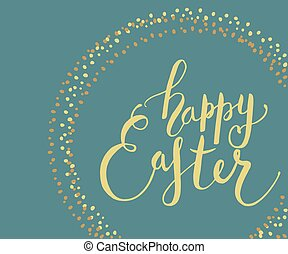 Easter postcard, card, invitation, flyer, banner template. -...