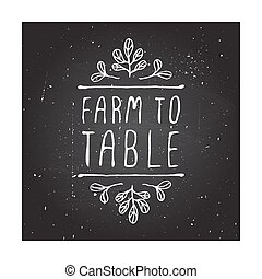 Hand-sketched typographic elements on chalkboard background....