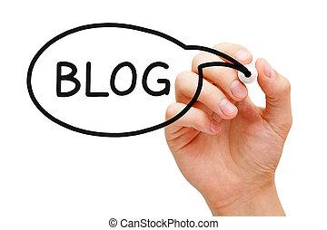 Blog Speech Bubble - Hand sketching Blog Speech Bubble ...