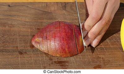 hand slice mango knife