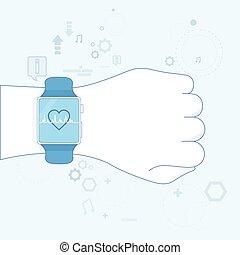 Hand Smart Watch Heart Pulse Monitor Icon
