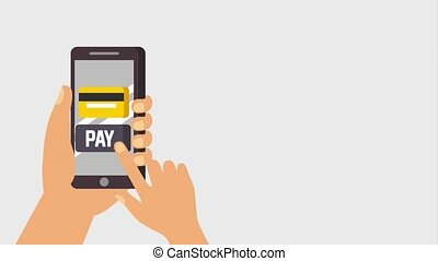 payment mobile online animation