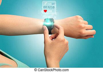 Hand smartwatch concept