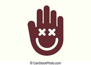 hand smile concept logo icon