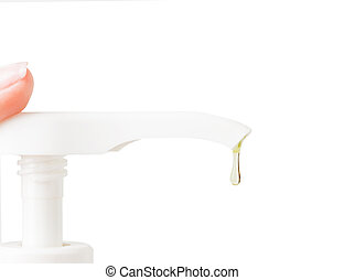 hand soap isolated on white background
